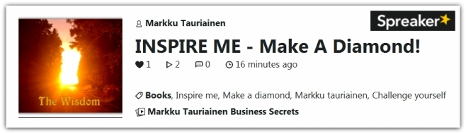 Make A Diamond Spreaker Audio